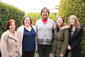Janette Barber, Hannah Denyer, Thomas Maybey, Kathryn Hogarth and Alison McGee from Achieving for Children