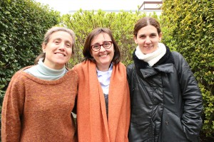 Carme Flores, Cristina Corcoll and Àngels Geis from the Universitat Ramon Llull